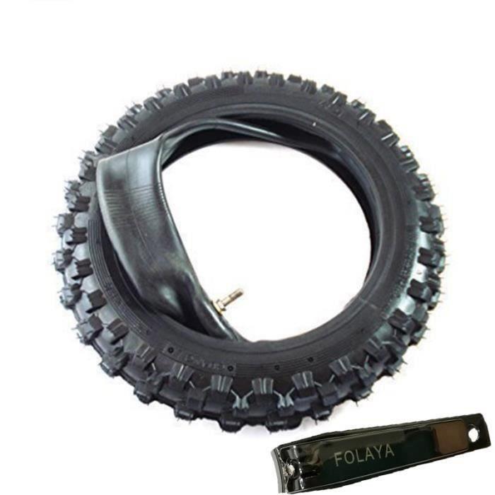 2.50-10 Pneu Dirt Bike -Pit Bike - Shini Pneu de Cross - 2.50-10 - Traverser Profile - avec Tuyau Sh40128