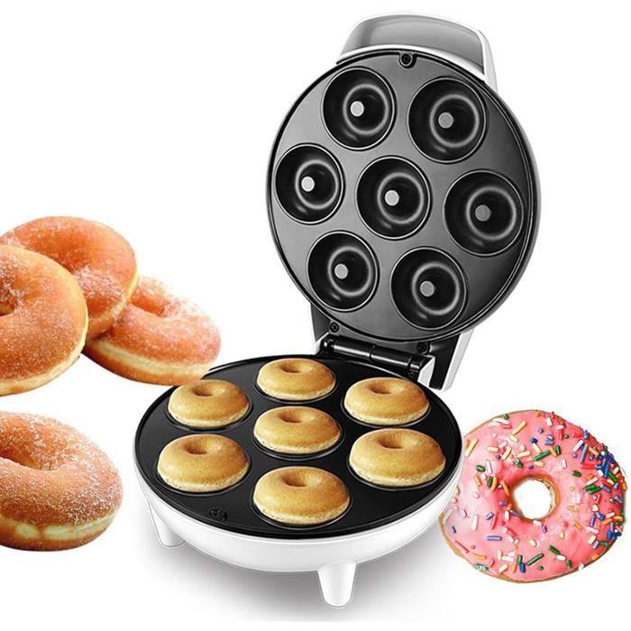 GAUFRIER WSJMJ 1200W Appareil agrave Donuts Gaufrier pour Gaufres Machine agrave Sandwich avec Revecirctement Antiadheacutesif I1281