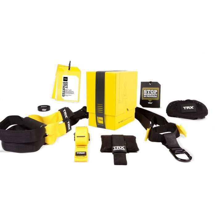 Kit De Suspension Training TRX HOME P4 - Noir-jaune - TU