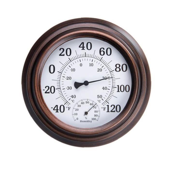 Thermomètre mural hygromètre intérieur ronde extérieur cadran hygromètre Indicateur de température