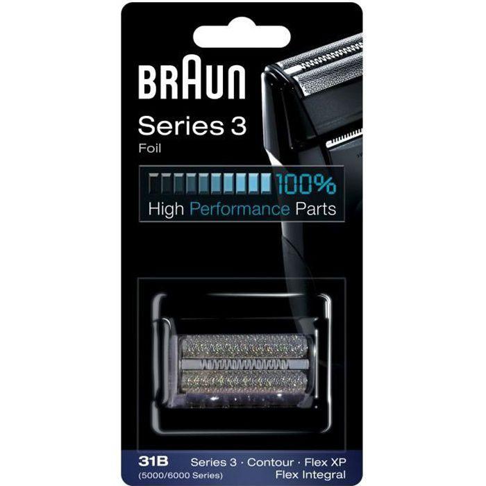 Braun 31B Noire Pièce De Rechange compatible avec les rasoirs Series 3