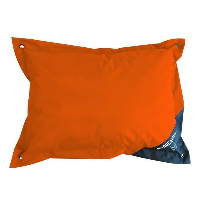 MPETS Coussin d'extérieur Natuna 140 cm - Taille XL - Orange et gris - Pour chien