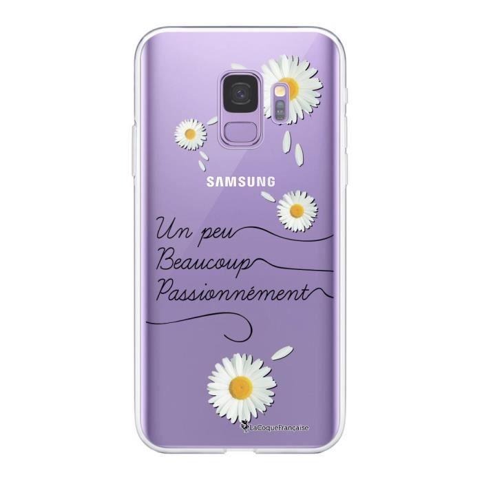 Coque Samsung Galaxy S9 360 intégrale transparente Un peu beaucoup Ecriture Tendance Design La Coque Francaise