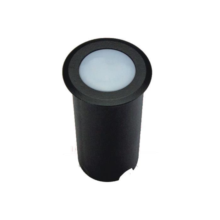 Petit Spot Encastable 1,5W LED Tour Noir étanche IP67 - Teinte de lumière:Blanc Chaud (2700K) couleur:Noir teinte de lumière:Blanc