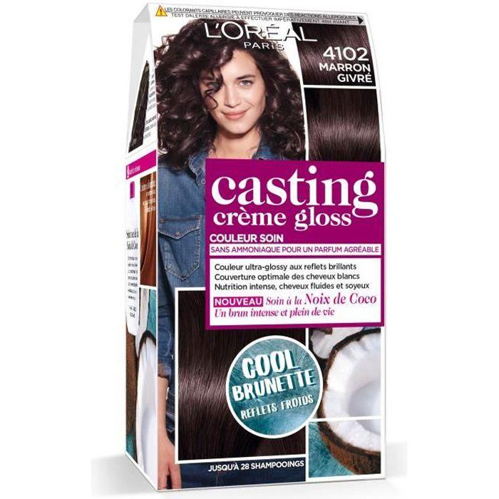L'OREAL PARIS Kit de Coloration Casting Crème Gloss Cool Brunette - 4102 Marron givré