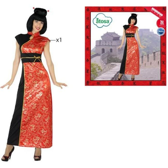 ATOSA Déguisement Chinoise - Femme - Rouge