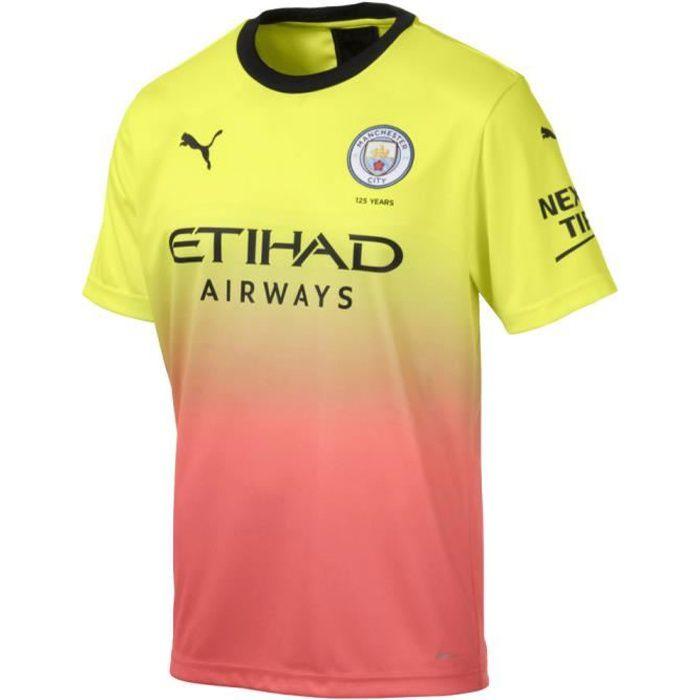 Puma Manchester City 2019/20 Troisième Maillot de foot Jaune Homme