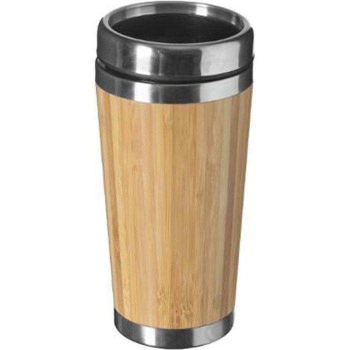 Mug Isolant -Bambou- 38cl Naturel Beige
