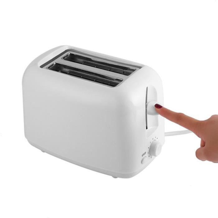 Automatic Toast Sandwich Maker Mini Practical Home Breakfast Bread with EU Plug (White) MACHINE A PAIN