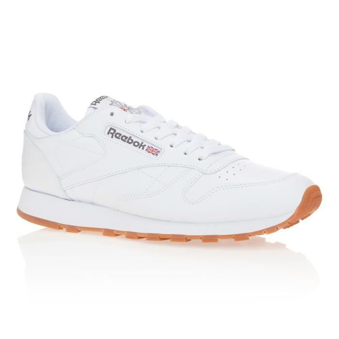 REEBOK Baskets Classic Leather - Homme - Blanc