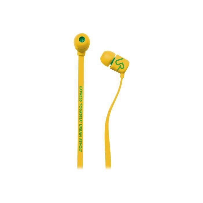 TRUST Ecouteurs avec micro intra-auriculaire Urban Revolt Duga jack 3,5 mm - Jaune