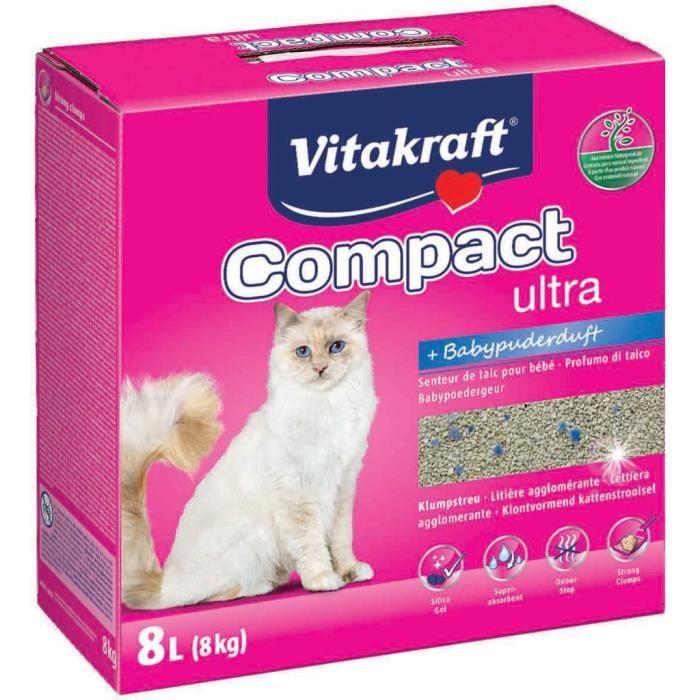 VITAKRAFT Litière Compact Ultra Plus - 8 L - Pour chat