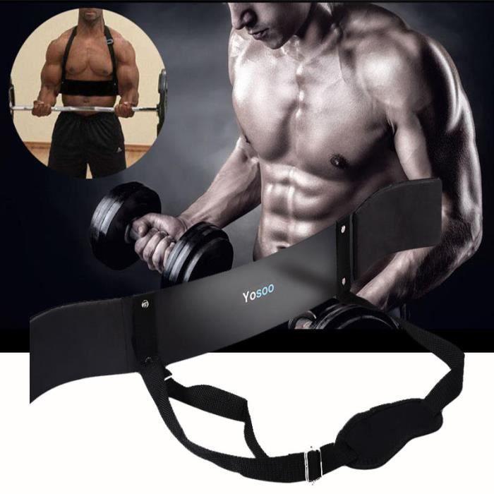 Biceps Machine de fitness bras Blaster Brassards Noir