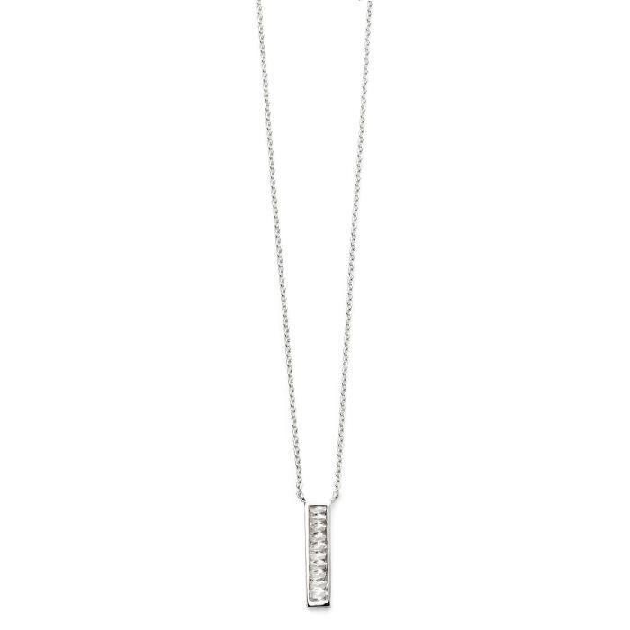 Bamoer S925 Solide Argent Sterling Collier Endless Love CZ Pendentif Femmes Bijoux