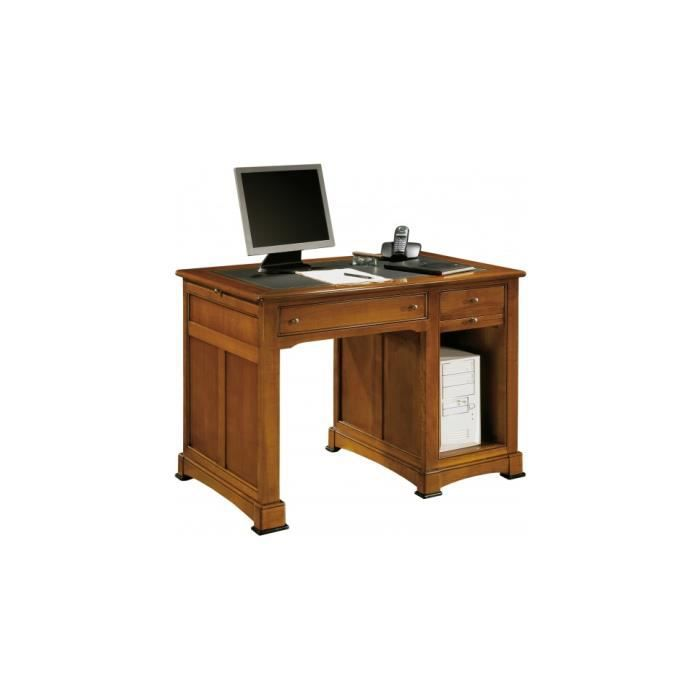 petit bureau informatique 3 tirettes 1 niche 2 tiroirs achat vente bureau petit bureau. Black Bedroom Furniture Sets. Home Design Ideas