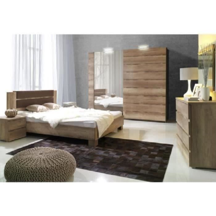 Price factory chambre coucher compl te miro adulte design lit 180x200 cm sommier - Chambre a coucher complete ...