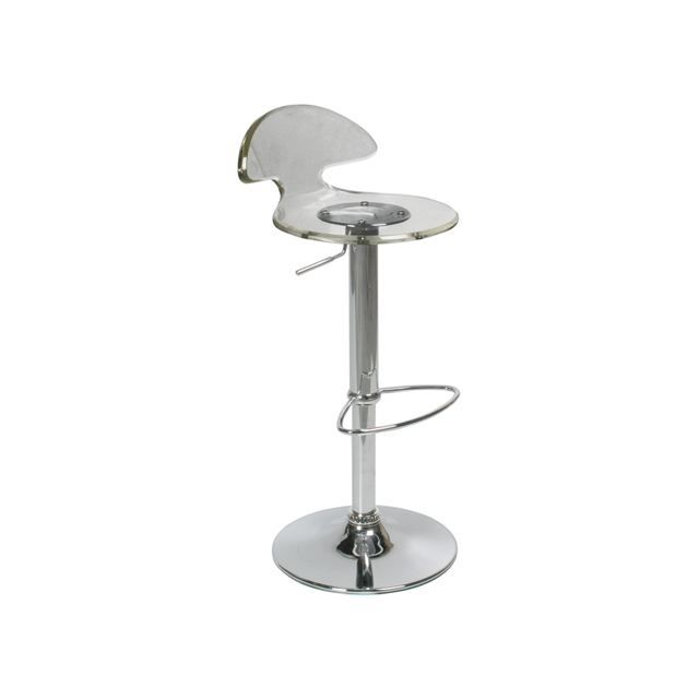 tabouret de bar moderne transparent ougo achat vente tabouret de bar cdiscount. Black Bedroom Furniture Sets. Home Design Ideas