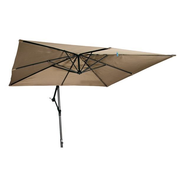 parasol carr 2 5 x 2 5m excentr taupe achat vente. Black Bedroom Furniture Sets. Home Design Ideas