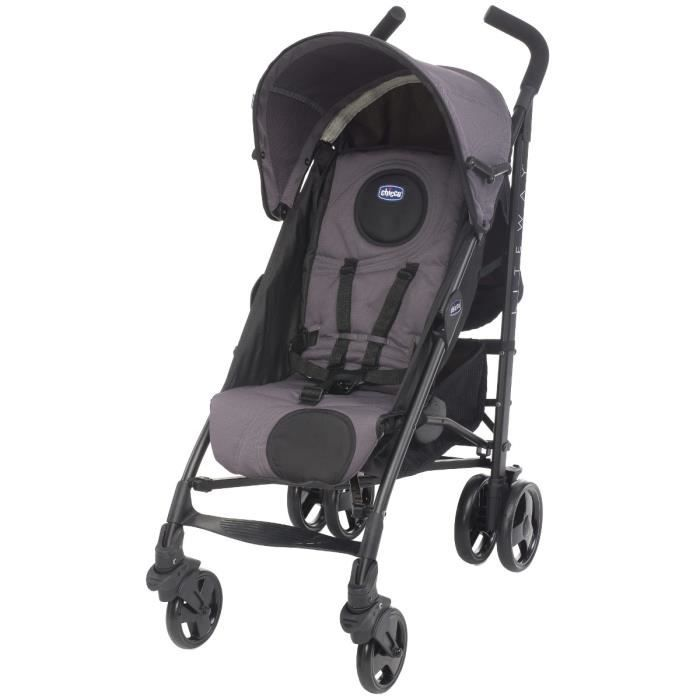 Chicco poussette canne liteway anthracite anthracite achat vente poussette 8058664034604 - Poussette canne chicco lite way ...