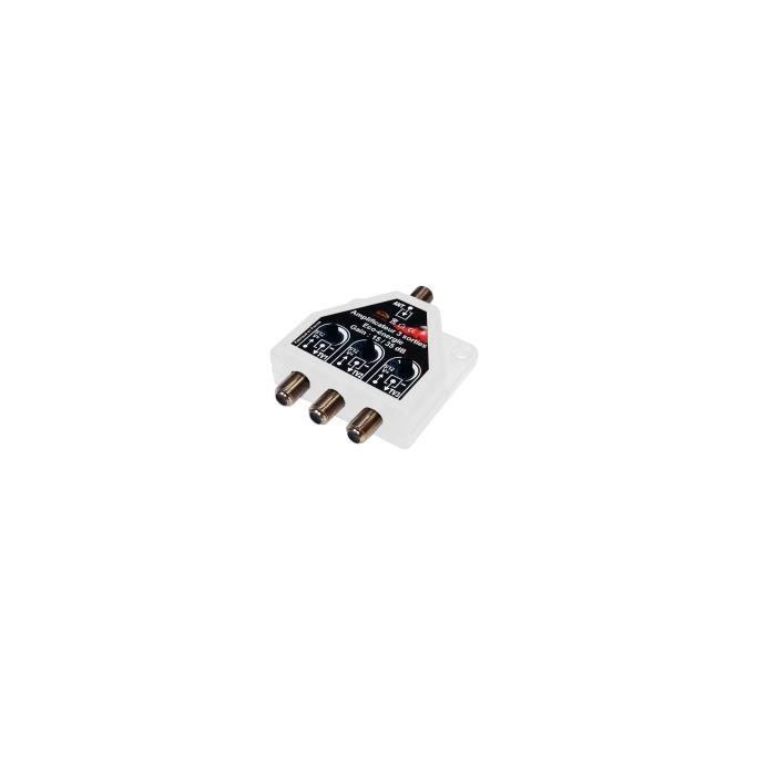REPETEUR DE SIGNAL Répartiteur / Amplificateur 3 TV TNT UHF 470 / 790