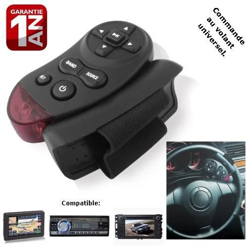 commande au volant universel sansfil cd dvd tv mp3 achat vente pack car audio commande au. Black Bedroom Furniture Sets. Home Design Ideas