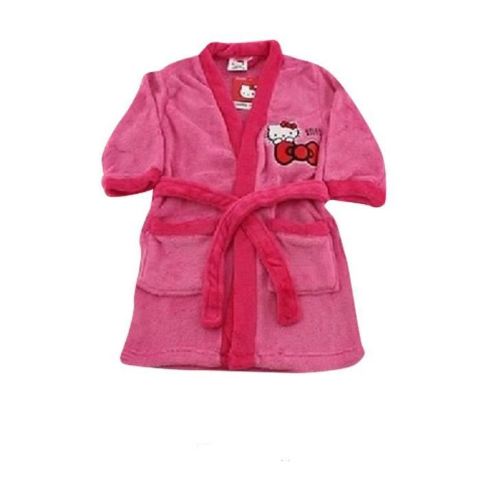 BONNET - CAGOULE Robe de chambre polaire Disney Hello Kitty taille