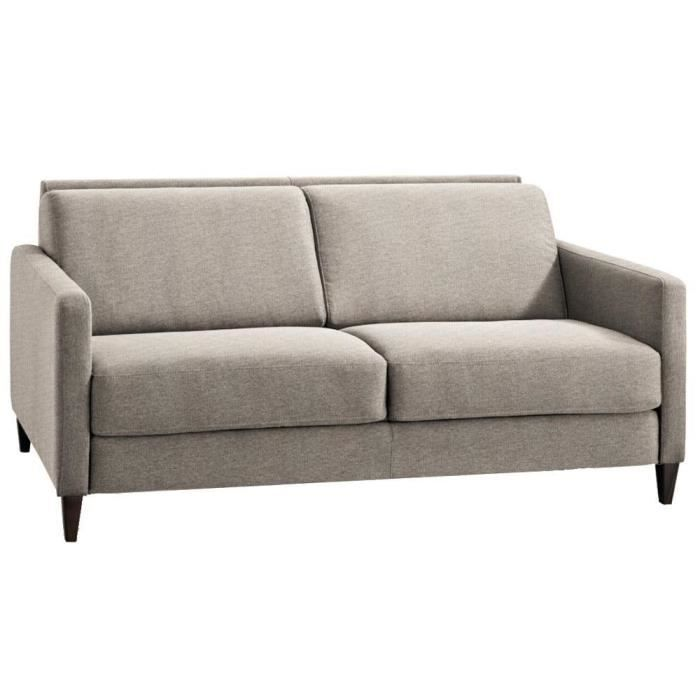 Canap fixe oslo 3 4 places tissu tweed beige achat vente canap sofa divan cdiscount - Mousse haute resilience canape ...