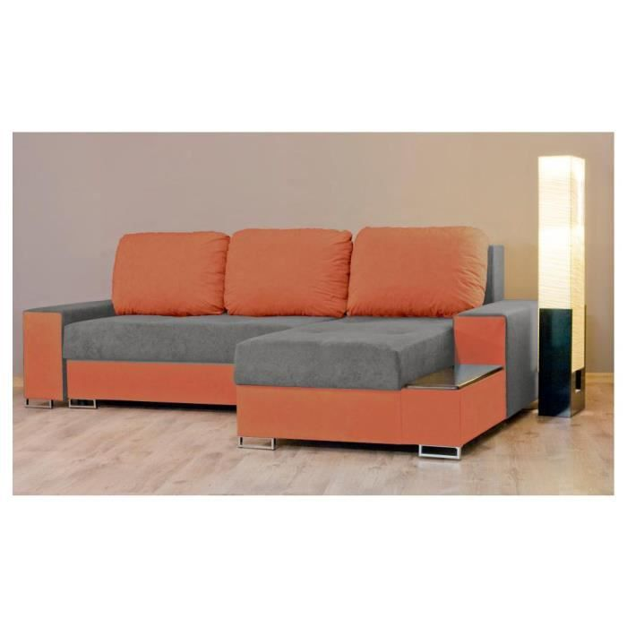 Justhome neptun i canap d 39 angle l x l 155 x 248 cm for Canape d angle orange