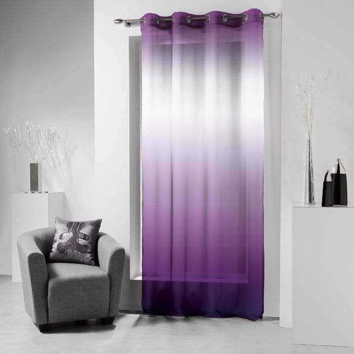 voilage oeillets 140x240 lulu tie and dye prune achat. Black Bedroom Furniture Sets. Home Design Ideas