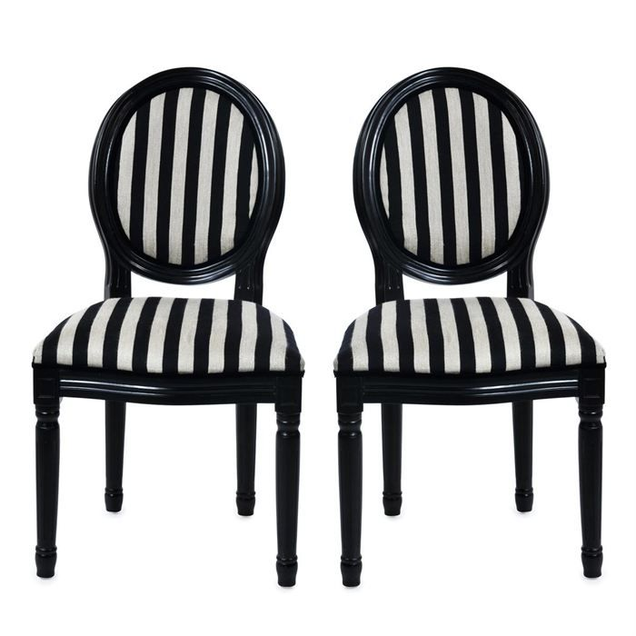 chaises baroque noir et blanc medaillon x 2 achat vente chaise cdiscount. Black Bedroom Furniture Sets. Home Design Ideas