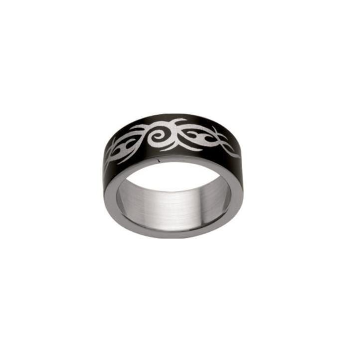 bague argent motif tribal