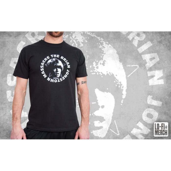Brain JONESTOWN MASSACRE Gig Shirt Noir Ensemble cadeau avec carte Tailles