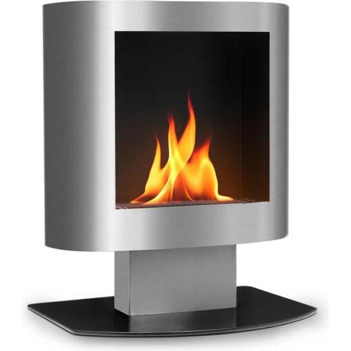 750-1500 Watt Blanc Classic Fire Chemin/ée Electrique Po/êle /Électrique Autoportant /à Effet de Feu