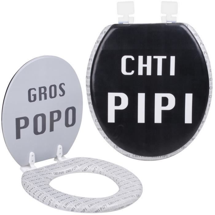 Gallery of abattant de toilettes wc design humour fun chti pipi gros popo with panneau toilette - Abattant wc qui bouge ...