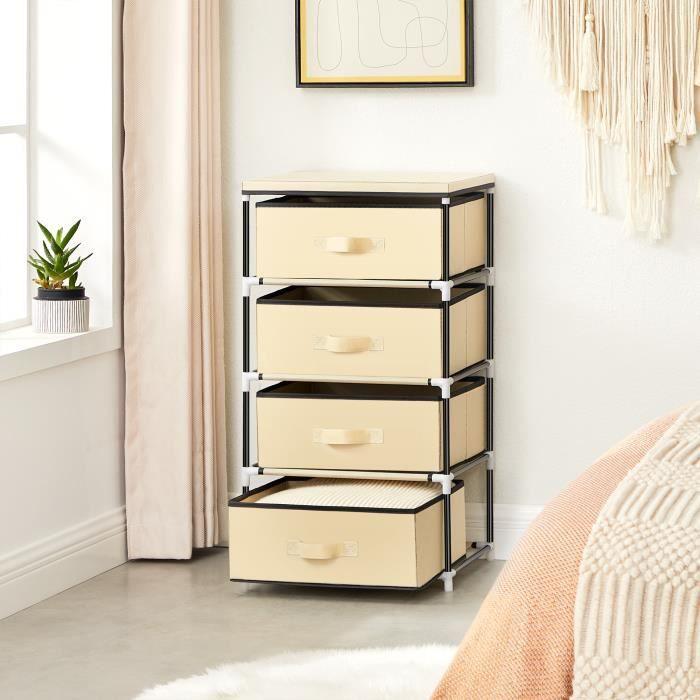 Petit meuble de rangement en acier noir - Achat / Vente pas cher
