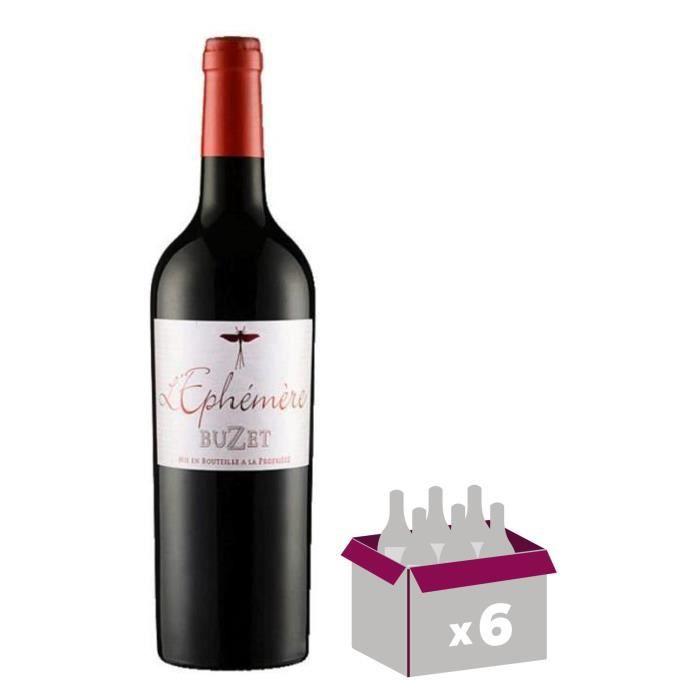 Buzet L'Ephémère 2013 Vin du Sud Ouest - Rouge - 75 cl x6