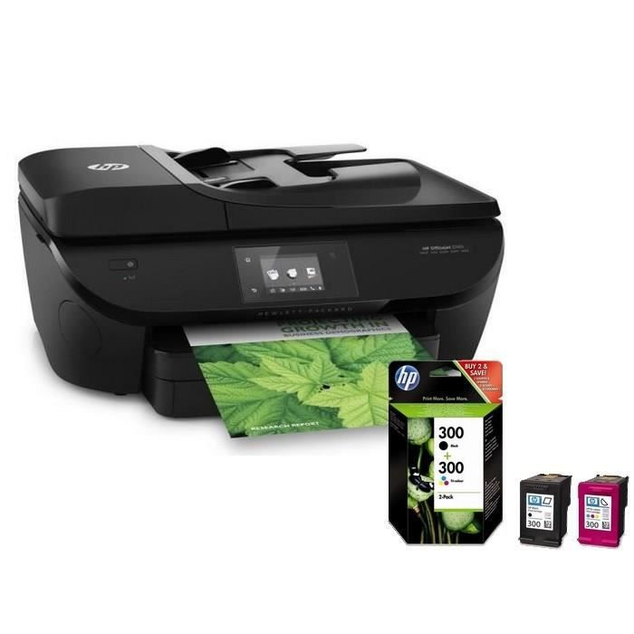 hp officejet 5740 hp pack 2 cartouches hp 300 achat vente imprimante hp officejet 5740. Black Bedroom Furniture Sets. Home Design Ideas