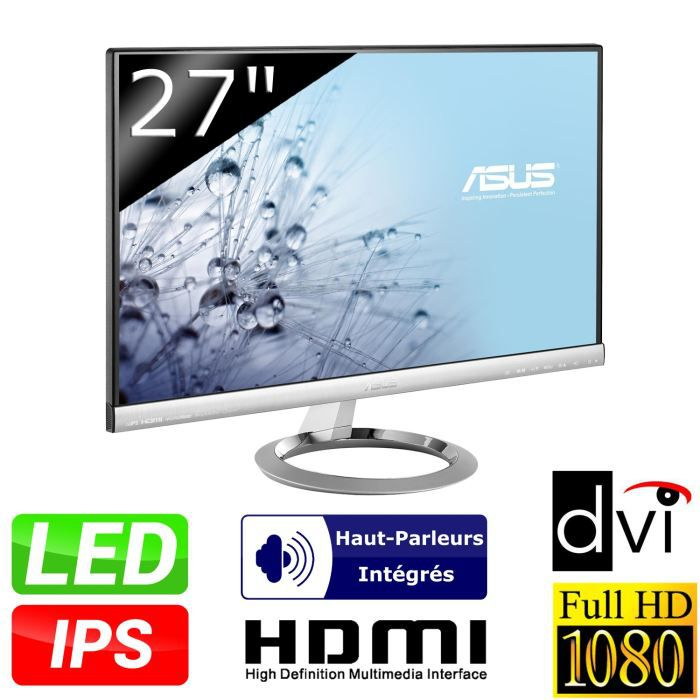 Asus mx279h ecran 27 full hd dalle ips 5ms hdmi for Dalle ips 27 pouces