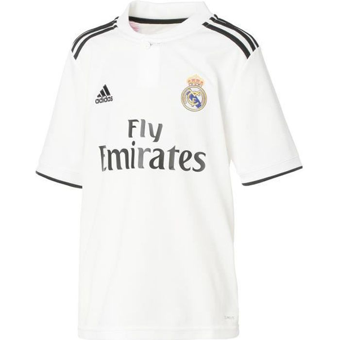 ADIDAS Maillot de football Real Domicile 18 - Enfant garçon - Blanc