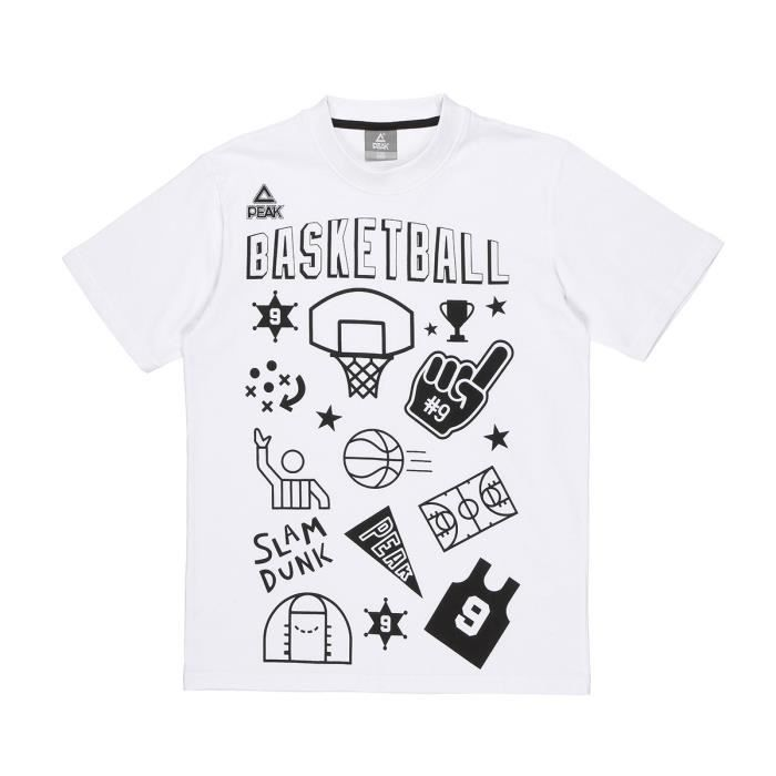 PEAK T-shirt TP Fantasy Basket - Enfant - Gris