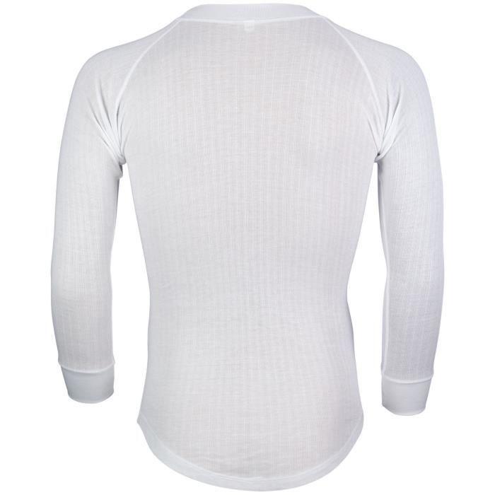AVENTO Lot de 2 Sous-vêtements Thermiques Manches Longues - Homme - Blanc
