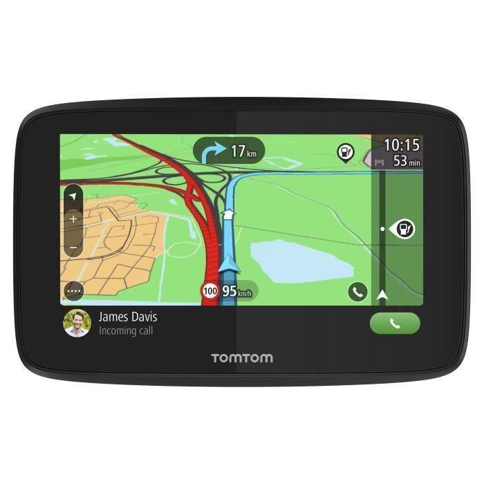 TomTom GO Essential 6'' - GPS Auto 6 pouces, cartographie Europe 49, Wi-Fi intégré, appels mains-libres