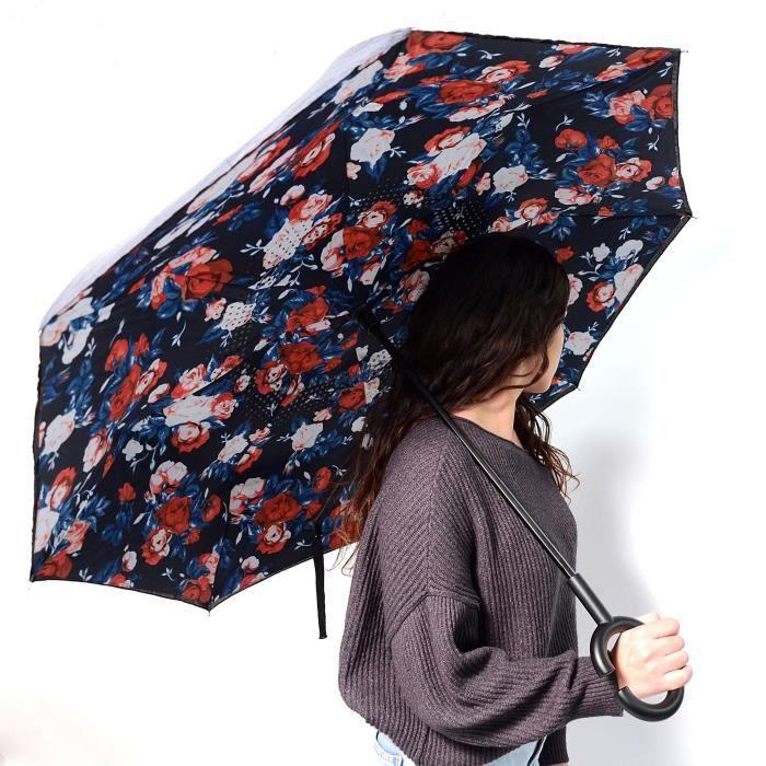 KINSTON Parapluie inversé Imprimé à Fleurs