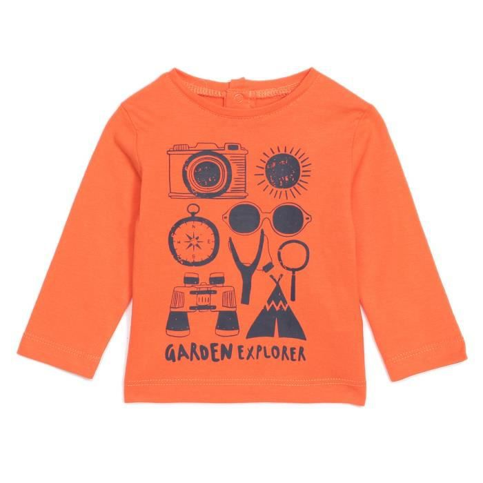 BEBE REVE Tee shirt manches longues - Orange