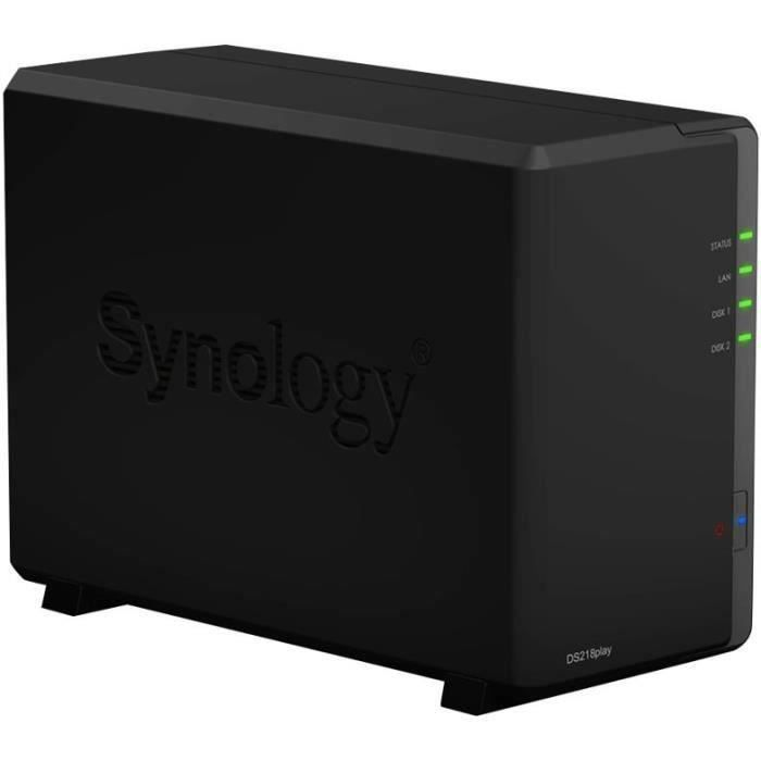 SYNOLOGY - Serveur de Stockage (NAS) - DS218play - 2 Baies - Boitier nu