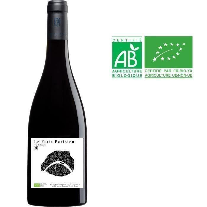 Les Vignerons Parisiens Le Petit Parisien Vin de France - Vin rouge de Paris - Bio