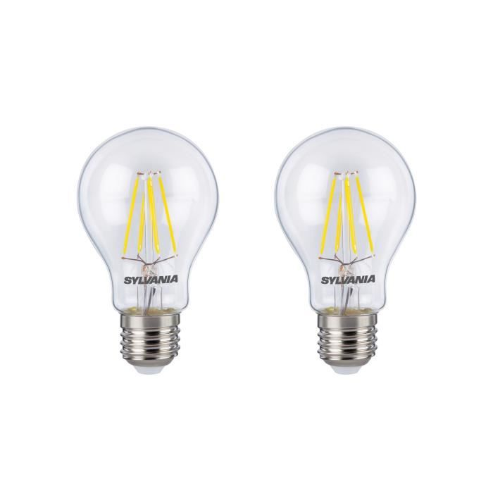 SYLVANIA Lot de 2 ampoules LED RETRO Filament A60 E27 50W