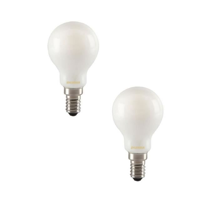 SYLVANIA Lot de 2 ampoules LED à filament Toledo RT Ball E14 4 W équivalent à 35 W
