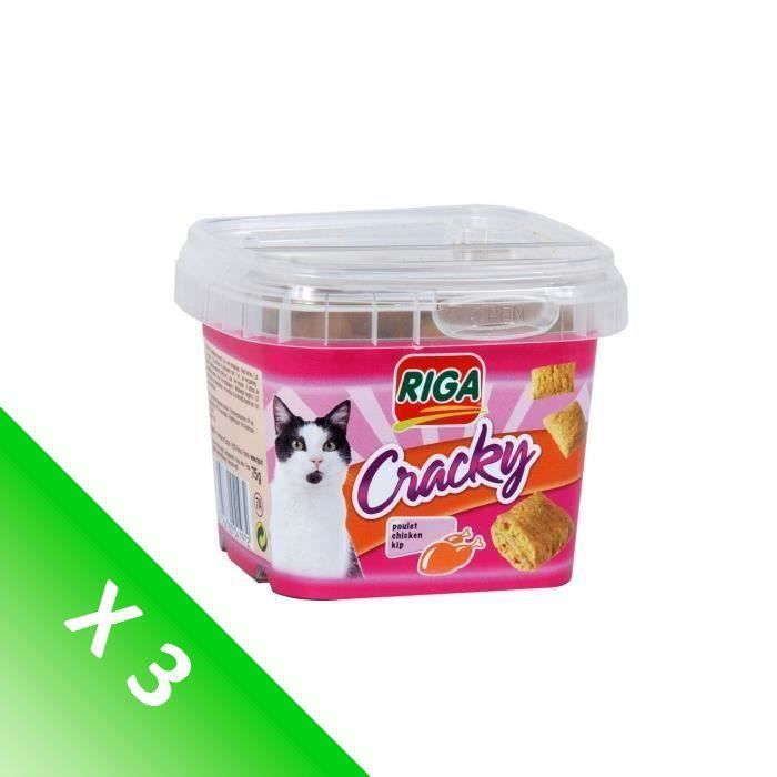 Lot de 3 RIGA cracky poulet CHATS