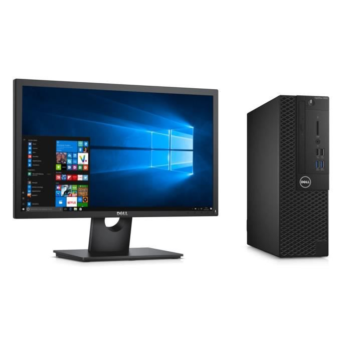 DELL PC de bureau Optiplex 3050 -RAM 4Go-Intel Core i5 7500T -Win 10 -Intel HD Graphics 630 -Stockage 500Go + Ecran 22\